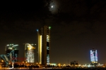 Buildings at night in Kuwait City