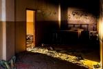 Abandoned old school in Wafra, Kuwait