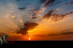 Sunset in Wafra oilfield, Kuwait