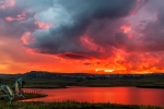 Sunset at Sterkfontein dam, Free State, South Africa