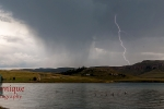 Lightning at Sterkfontein dam, Free state, South Africa.